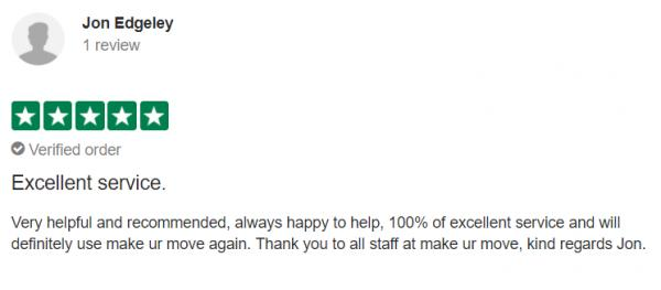 5 Star Tenant Review from John Edgeley