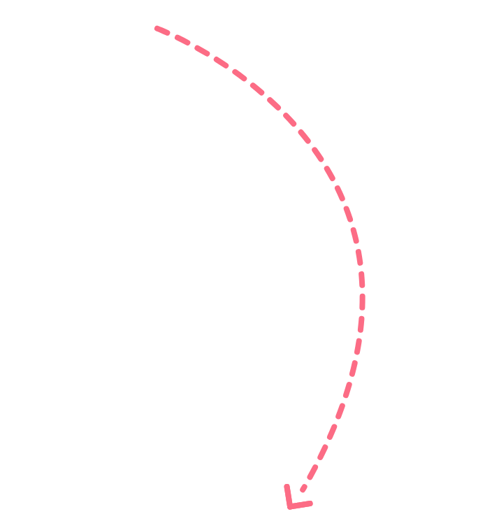 curved pink arrow