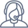 Icon person wearing a headset
