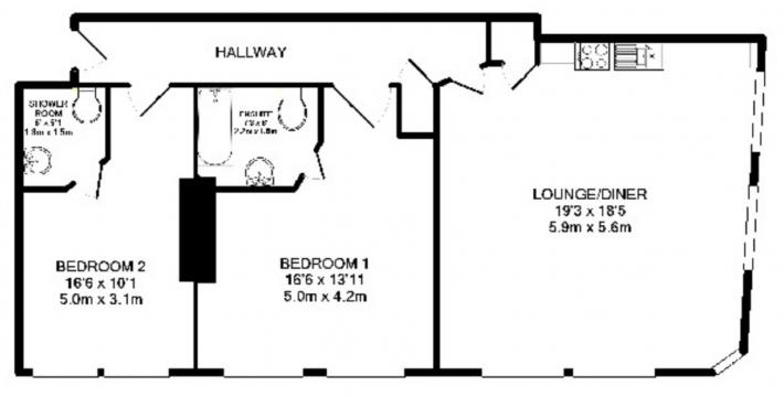 Apartment 5 Manchester M1 2BU 2 bedrooms Flat/Apartment